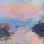 Sunset on The Seine in Winter