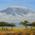 Mt Kilimanjaro Rising oil painting