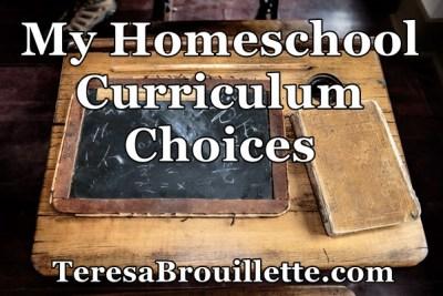 My Homeschool Curriculum Choices
