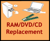 Memory Chip, DVD, CD Replacement