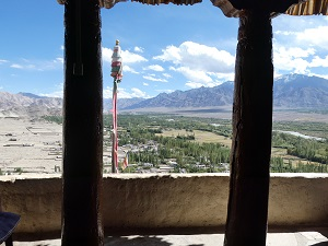 Thiskey monastery view up the Indus Valley