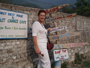 Signpost to the Beatles Ashram, Rishikesh, India 2006