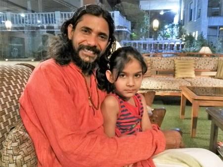 Yogi Vishnu and his daughter Sunrita, in Rishikesh