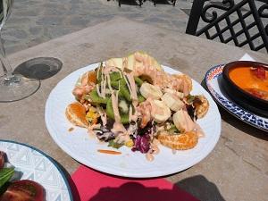 Lunch salad in Canillas di Albaida