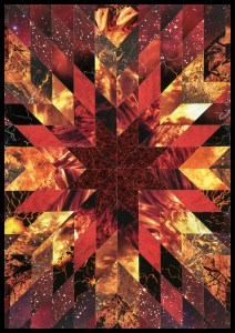 Teresa Goodin   Elemental Fire   Handcrafted collage   420mm x 594mm   2020