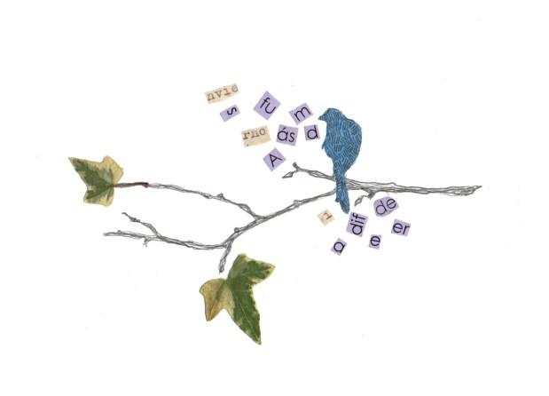 árbolpalabraspájaro II - 100 € - Ejemplar único original