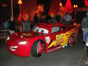 Of COURSE Lightning McQueen would be too busy to stop for a photo...