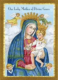 Our Lady Mother Of Divine Grace Prayer Card Teresa Satola