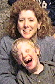 Teresa and her son Andrew when he was small. Check out that big Texas hair.