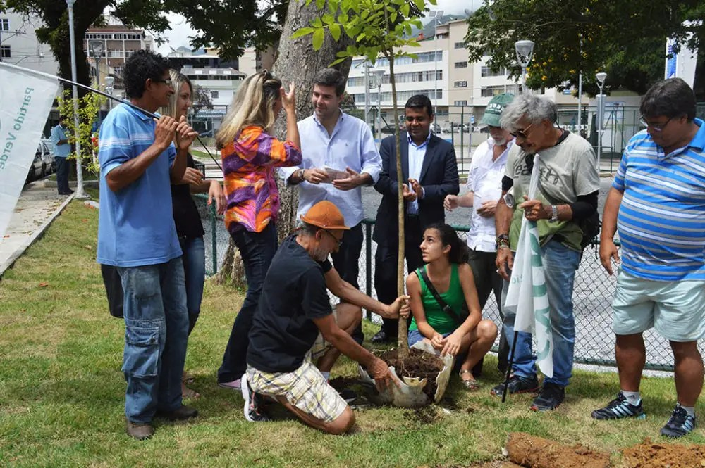 Praça Olímpica ganha mais árvores