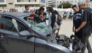 Simulação de socorro à vítima de acidente de trânsito encerra semana de conscientização sobre o tema