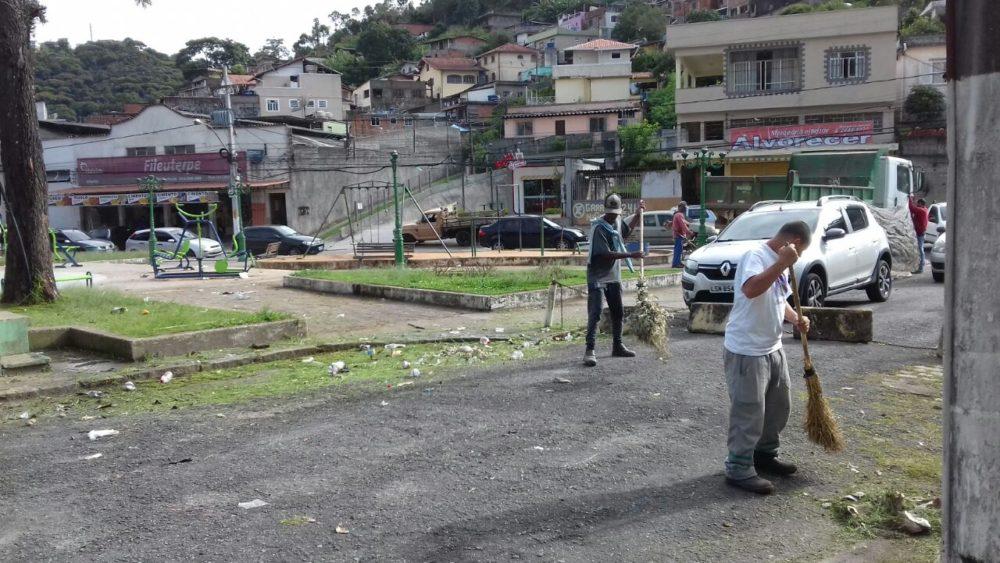 Fonte Judith e outros espaços públicos recebem limpeza municipal