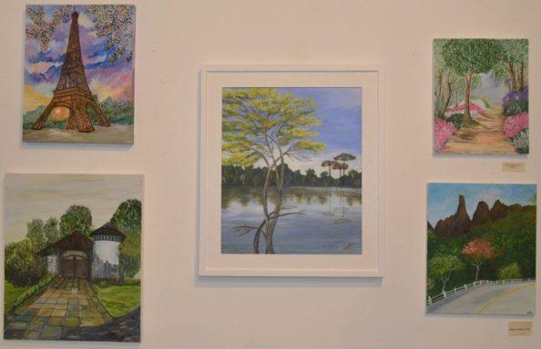 Exposição coletiva dos trabalhos do curso de pintura ficará aberta a visitação até o dia 21 de janeiro na Casa de Cultura