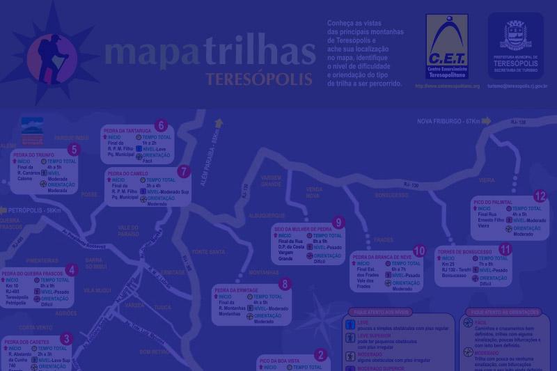 Turismo: 2ª edição do Mapa de Trilhas de Teresópolis já está disponível