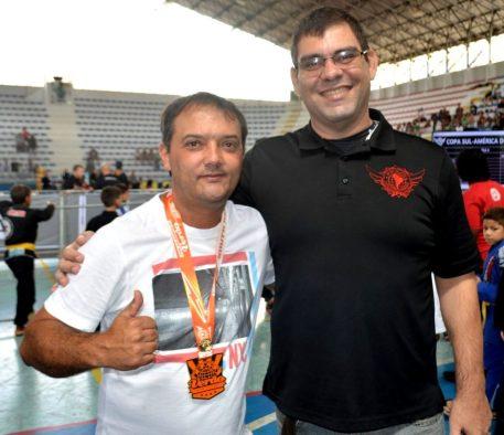 Secretário de Esporte Luiz Otávio de Oliveira e o presidente da SJJSAF, Cleiber Maia: evento de alto nível técnico