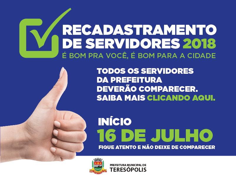 SERVIDORES MUNICIPAIS COMISSIONADOS QUE AINDA NÃO SE RECADASTRARAM TÊM ATÉ SEXTA, 20/07, PARA ATUALIZAREM SEUS DADOS