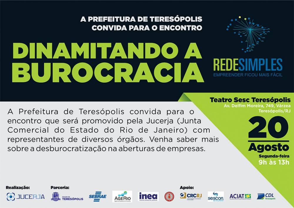 ENCONTRO 'DINAMITANDO A BUROCRACIA' ACONTECE SEGUNDA-FEIRA (20), NO SESC