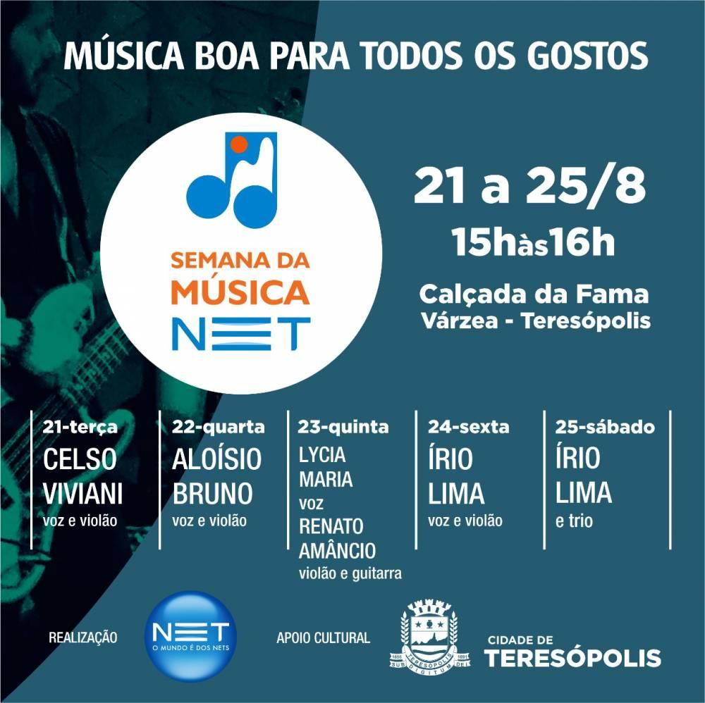 SEMANA DA MÚSICA – DE TERÇA A SÁBADO, 21 A 15-08