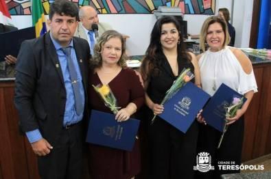 Edneia Martuchelli, Renata Azevedo e Andrea Juliana recebem Voto de Congratulações do Vereador Dudu do Resgate