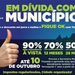CAMPANHA 'FIQUE OK COM TERESÓPOLIS' OFERECE DESCONTOS DE ATÉ 90% EM JUROS E MULTAS E VAI ATÉ 10 DE OUTUBRO