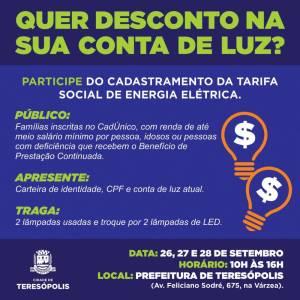 PREFEITURA E ENEL FAZEM MUTIRÃO PARA REDUZIR CONTA DE LUZ DE FAMÍLIAS INSCRITAS EM PROGRAMAS SOCIAIS