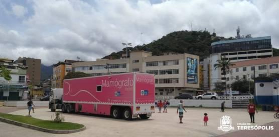 O Mamógrafo da Secretaria Estadual de Saúde já está na Praça Olímpíca, na Várzea