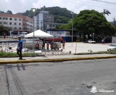 Rua Manoel Madruga, em torno da Praça Olímpica, ficará fechada para a passagem de veículos de 7 a 17 de dezembro