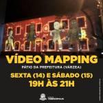 Espetáculo com luzes e cores projetadas na fachada da Prefeitura e festival de bandas agitam Teresópolis