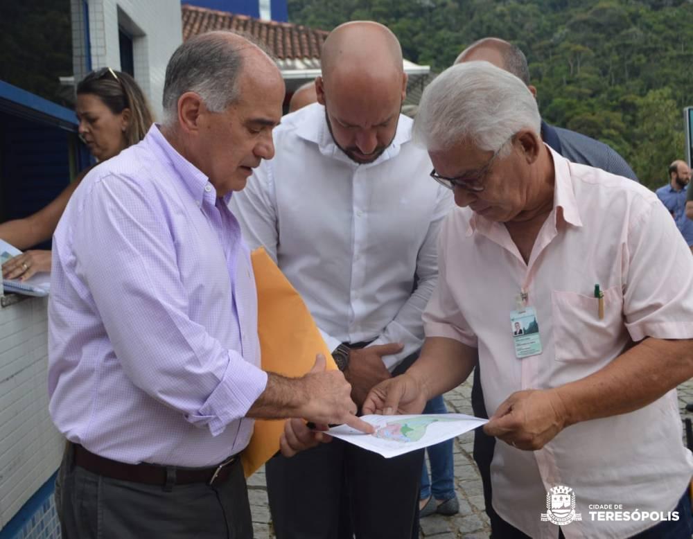 Prefeito e secretários visitam Campus Quinta do Paraíso do Unifeso