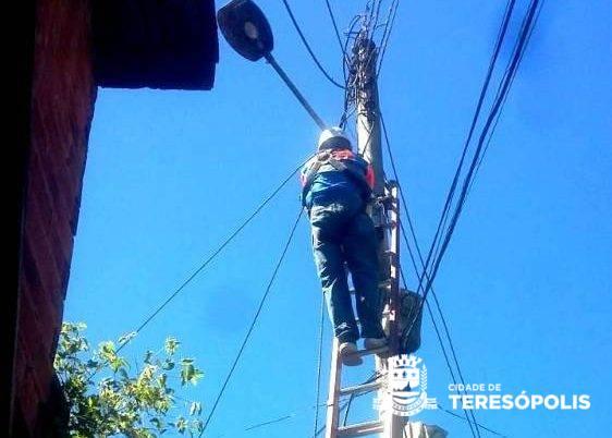 Recuperação da iluminação pública continua em diversos bairros da cidade