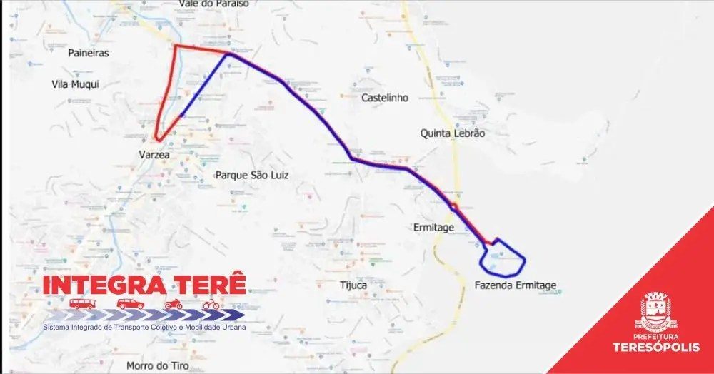 Dois ônibus, uma só passagem: Prefeitura garante integração da linha Parque Ermitage na segunda etapa do IntegraTerê