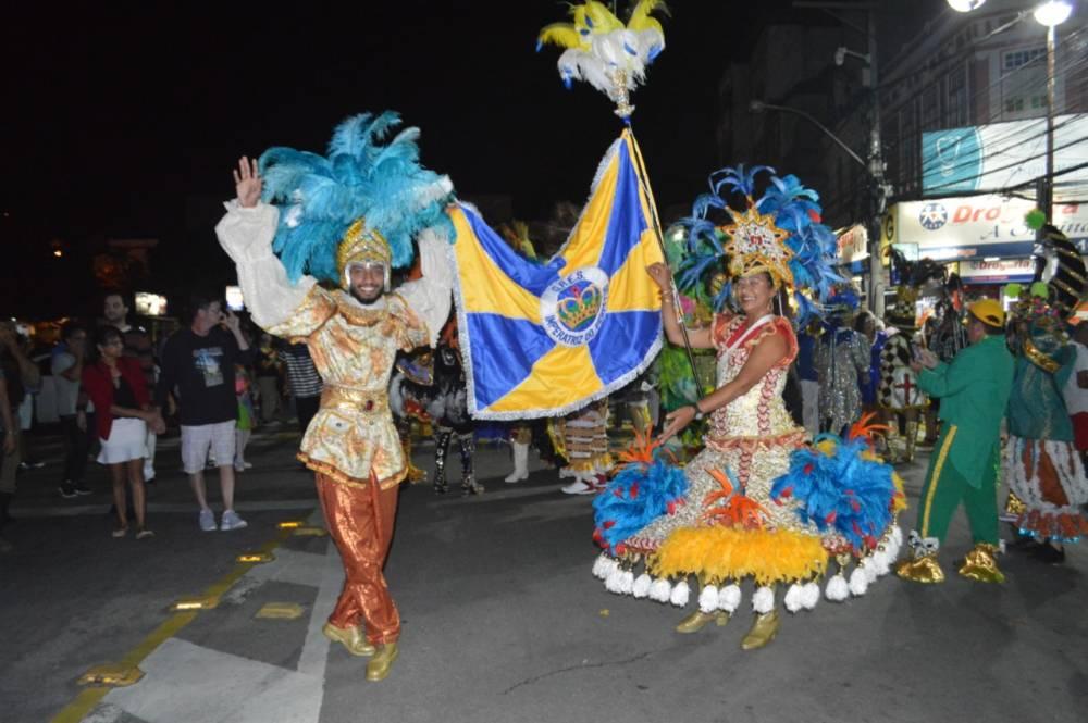 """Carnaval 2019 – """"Terê Alegria em Família"""": Desfile de escola de samba leva alegria e diversão para a cidade"""