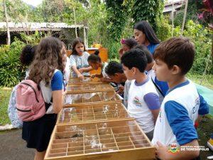 Estudantes passam o dia no Horto com atividades ambientais