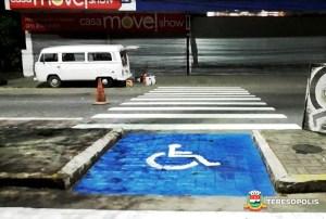 Prefeitura segue renovando a pintura da sinalização de trânsito