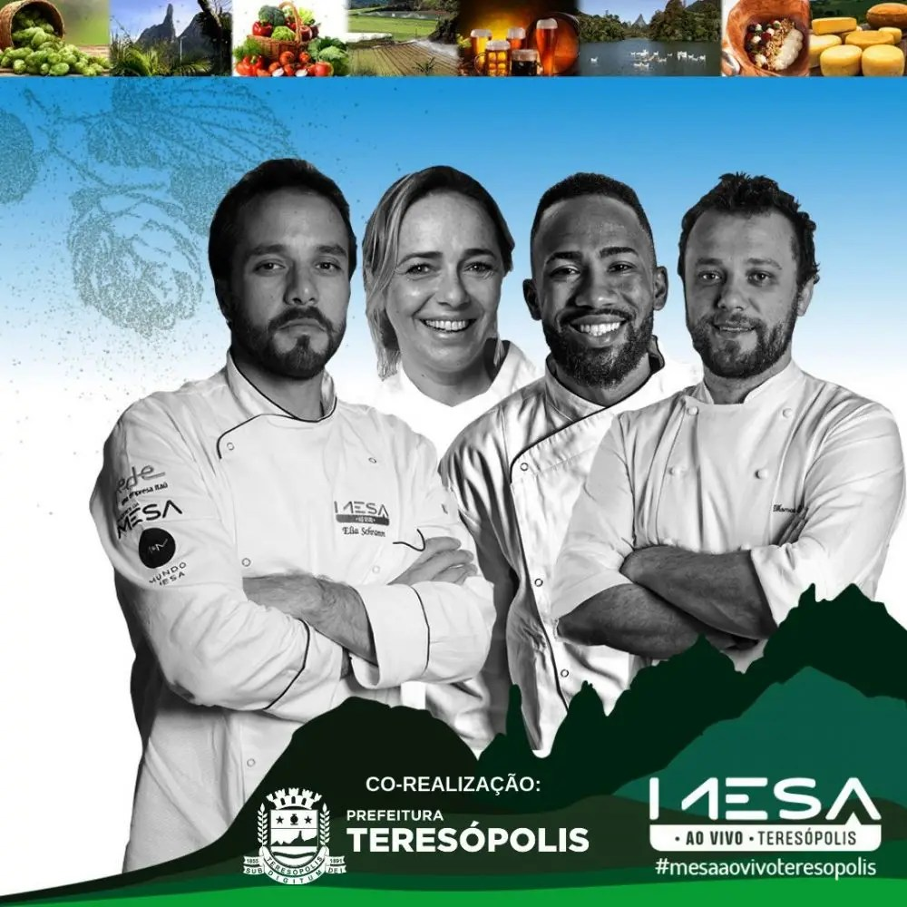 Maior circuito de gastronomia do país, 'Mesa ao Vivo' acontece em Teresópolis nos dias 29 e 30 de junho