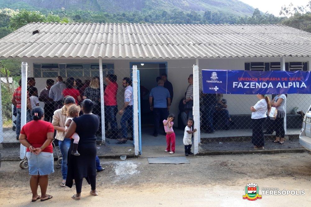 Unidade Primária de Saúde de Fazenda Alpina começa a atender ao público na segunda, 1º de julho