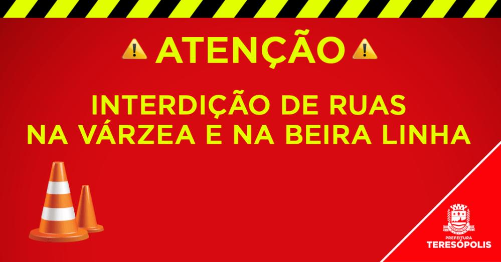 Ruas na Várzea e na Beira Linha serão interditadas na tarde deste domingo