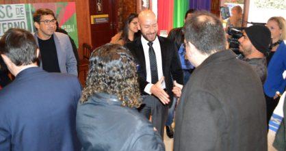 Prefeito Vinicius Claussen no lançamento do Festival de Inverno no Sesc Teresópolis