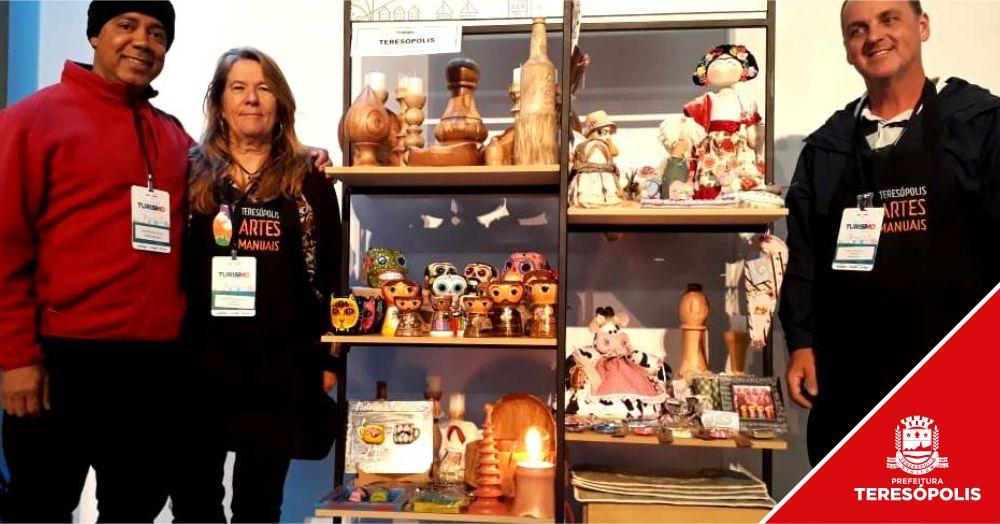 Artesanato de Teresópolis faz sucesso no Salão Estadual do Turismo