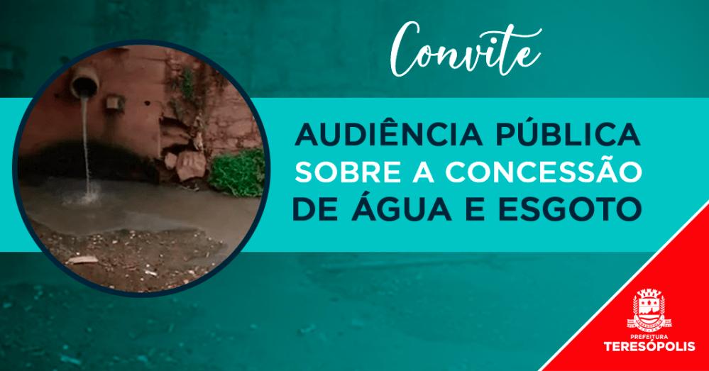 Concessão de água e esgoto: 2ª Audiência Pública reúne população dia 15 de agosto, no Ginásio Pedrão