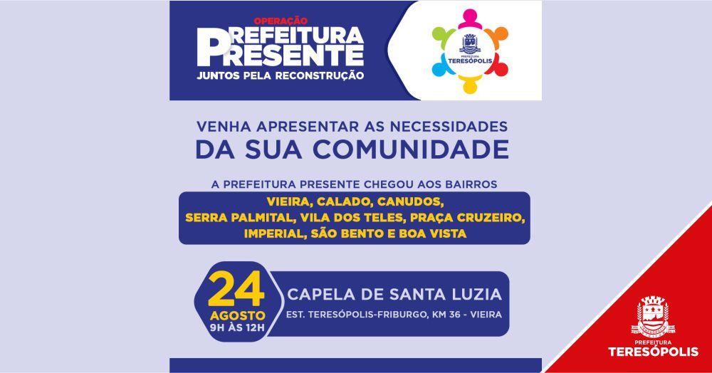 'Operação Prefeitura Presente' acontece em Vieira, no sábado, 24 de agosto
