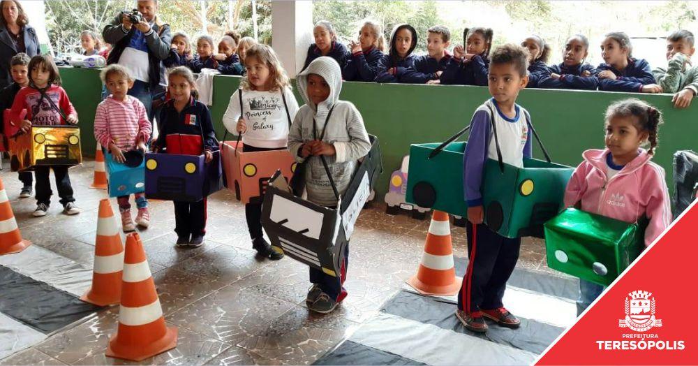 Atividades lúdicas em unidades escolares marcam a Semana Nacional de Trânsito