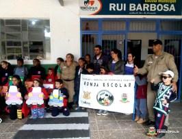 Equipe da Ronda Escolar encerra atividade com alunos da Escola Rui Barbosa
