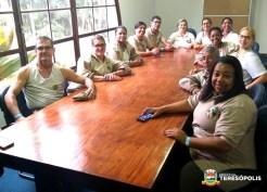 Equipes das guardas municipais de Teresópolis e do Rio de Janeiro em aula teórica