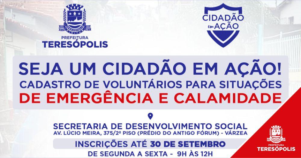 Inscrições para a Campanha 'Cidadão em Ação' são prorrogadas e seguem até 30 de setembro
