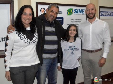Prefeito Vinicius Claussen com Malu Quental, Marcos Jaron e Maria Eugênia Frederico