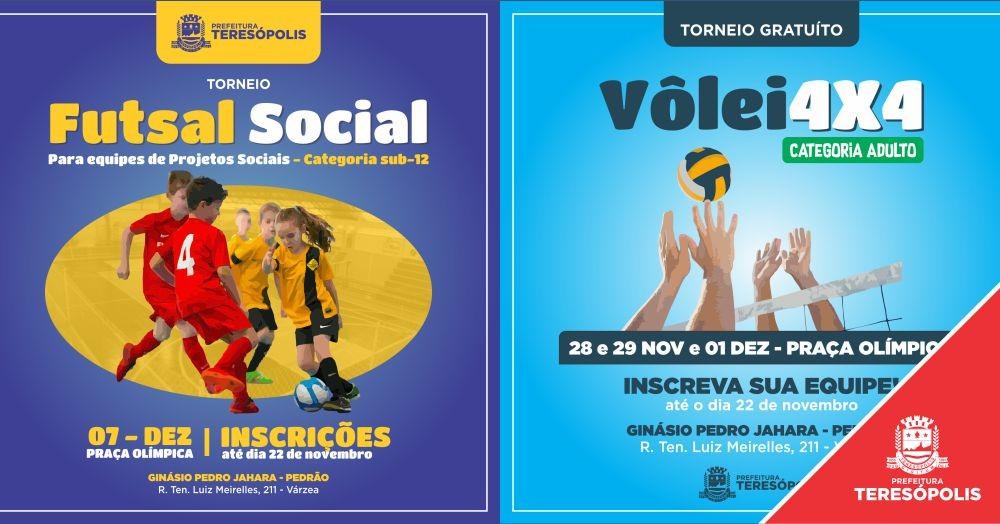 Torneios de vôlei e de futsal movimentarão a Praça Olímpica em novembro e dezembro