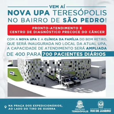 Prefeitura define local e projeto da nova UPA de Teresópolis
