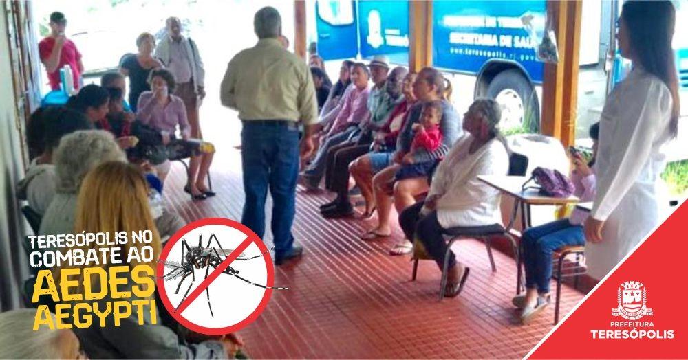 Combate ao Aedes aegypti engloba visitas domiciliares, teatro nas escolas e ações em praça pública em Teresópolis