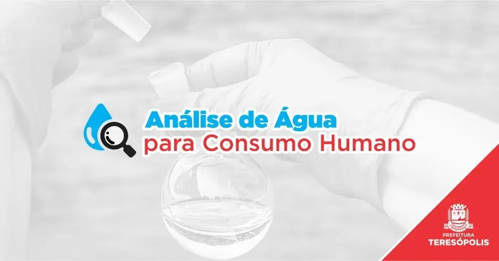 Análise da água das principais fontes de Teresópolis
